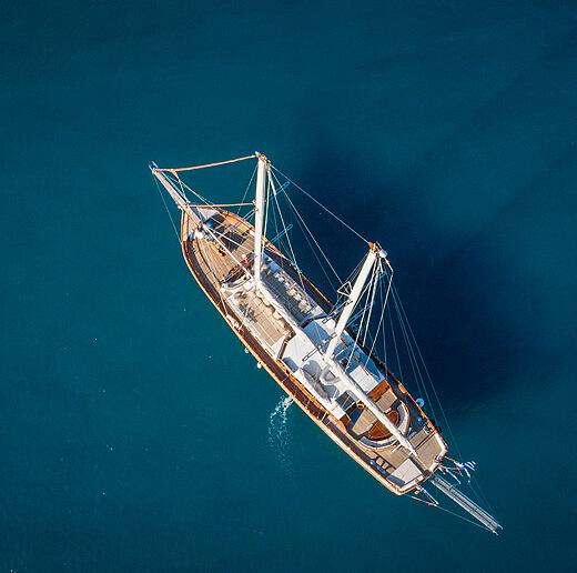 Yate en islas griegas